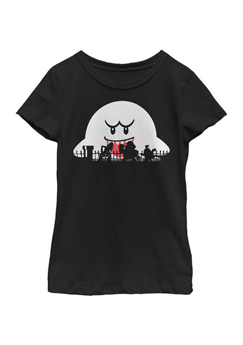 Nintendo Girls 4-6x Mario Halloween Silhouettes T-Shirt