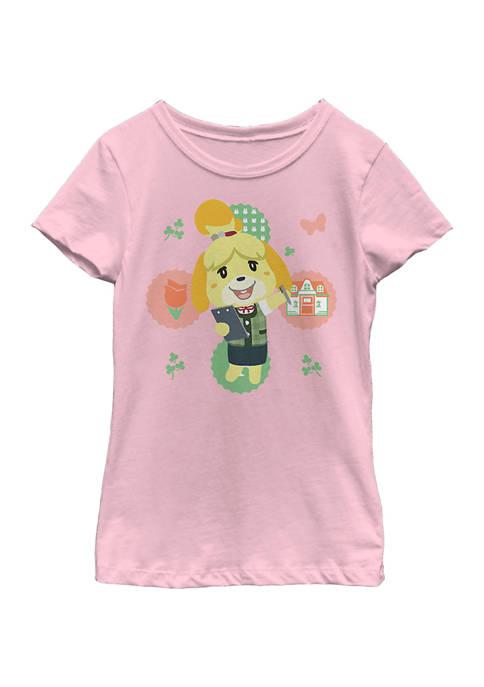 Nintendo Girls 4-6x Isabelle Graphic T-Shirt