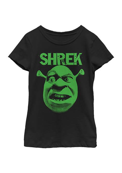 Shrek Girls 4-6x Halftone Graphic T-Shirt