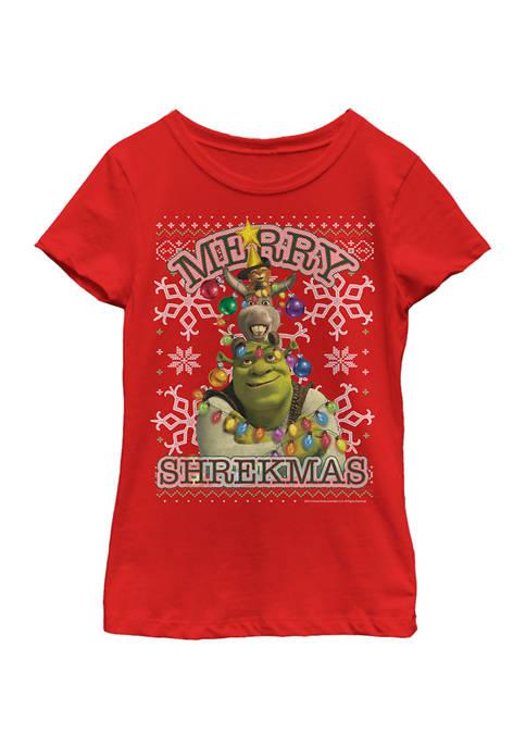 Girls 4-6x Xmas Shrekmas T-Shirt