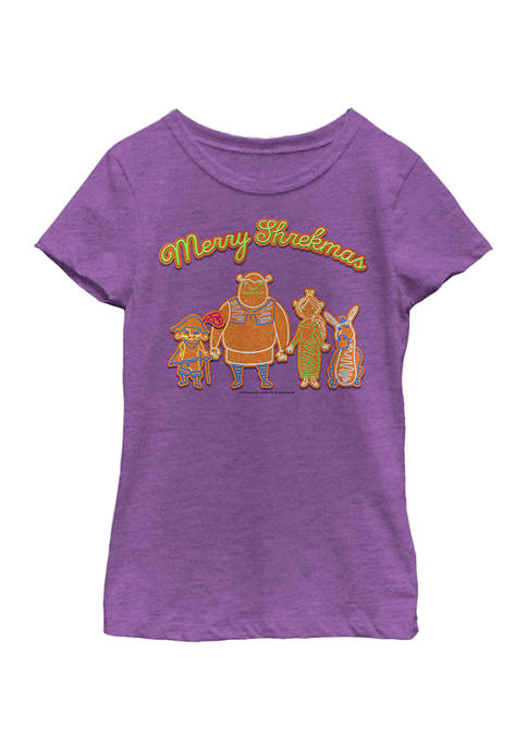 Girls 4-6x Shrekmas Cookies T-Shirt