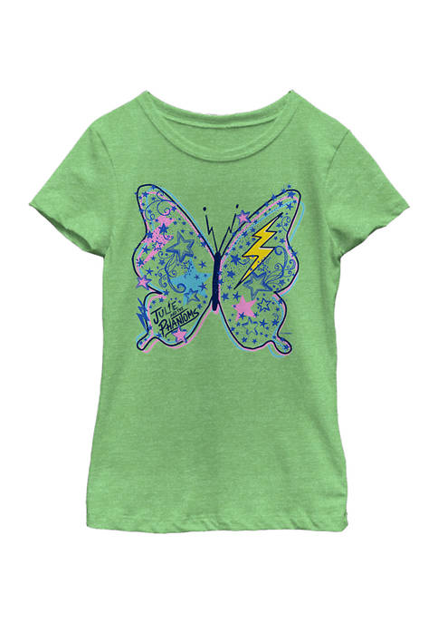 Girls 4-6x Butterfly Doodle Graphic T-Shirt