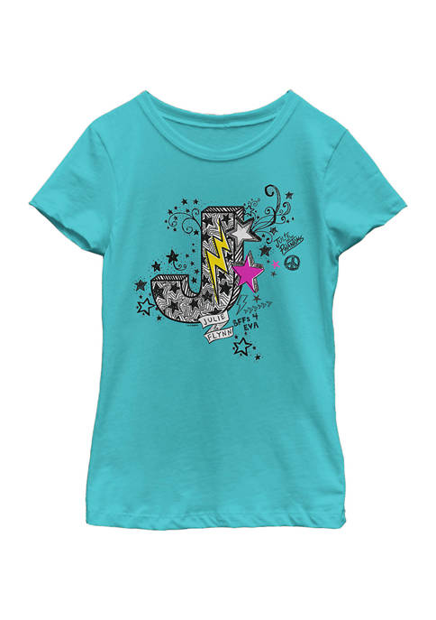 Girls 4-6x Julie and Flynn Doodle Graphic T-Shirt