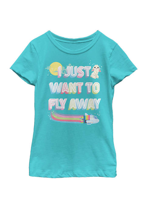 Girls 4-6x Fly Away Graphic T-Shirt
