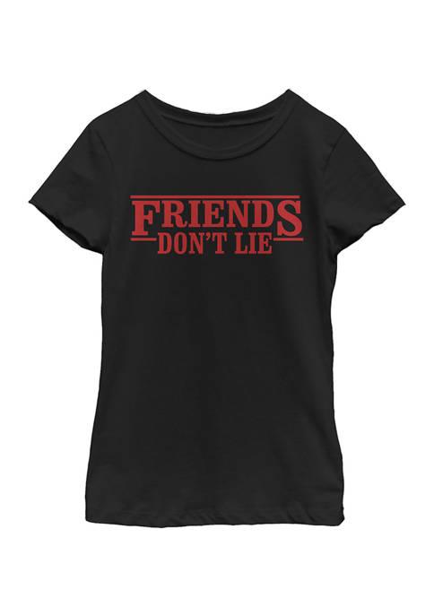Stranger Things Girls 4-6x Friends Dont Lie Top