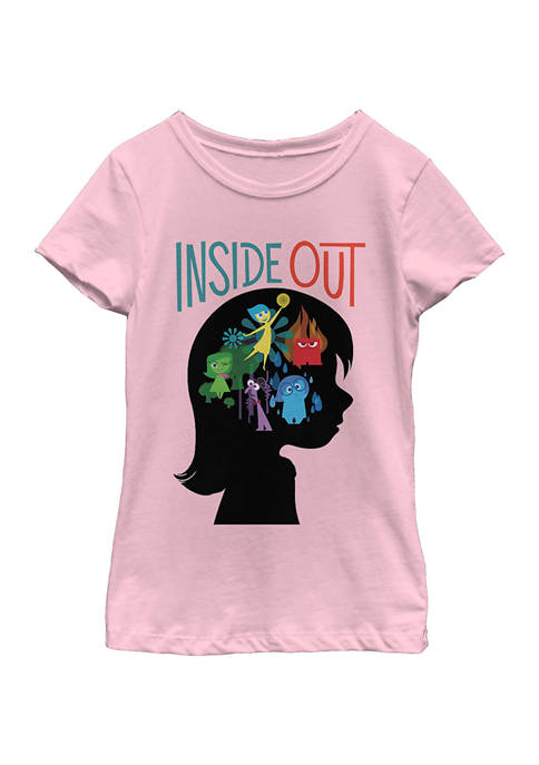 Inside Out Girls 7-16 Silhouette Graphic T-Shirt
