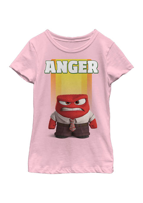 Inside Out Girls 7-16 Anger Graphic T-Shirt