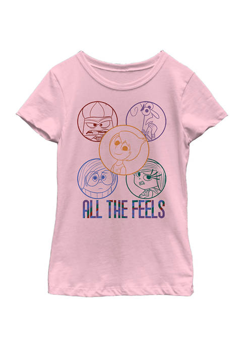 Inside Out Girls 4-6x All the Feels Graphic