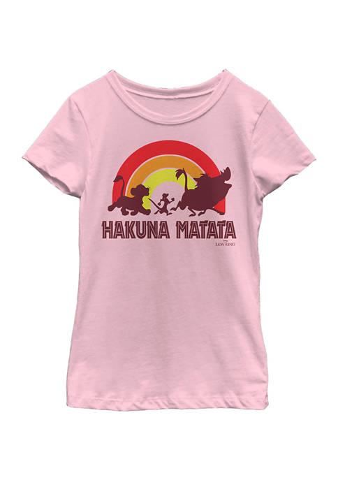 Disney® Girls 4-6x Hakuna Rainbow Graphic T-Shirt