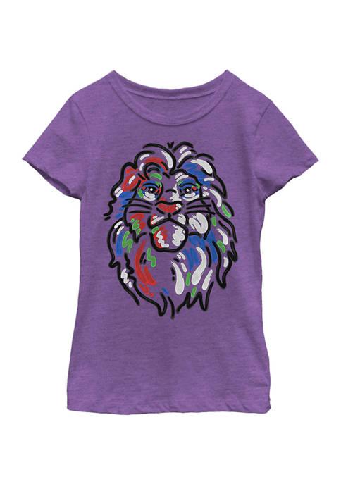 Disney® Girls 4-6x Simba Paint Graphic T-Shirt