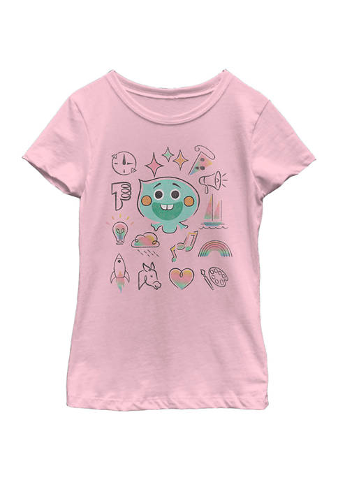 Soul Girls 4-6x Personality Grid Graphic Top