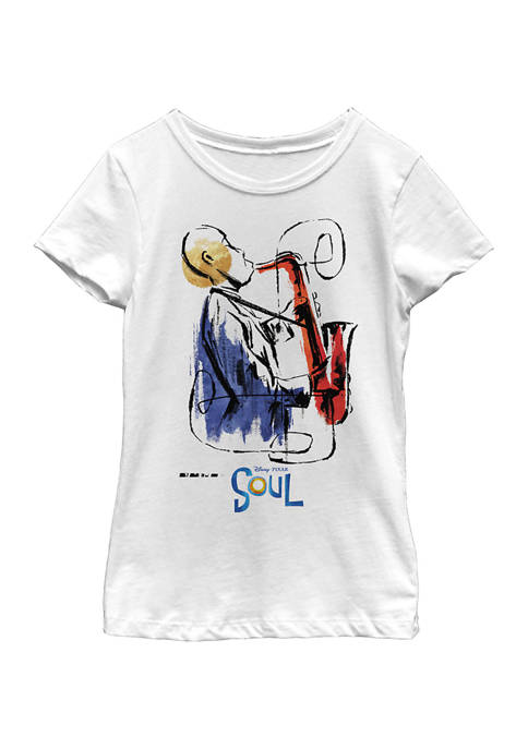 Girls 4-6x Sax Painting Graphic Top