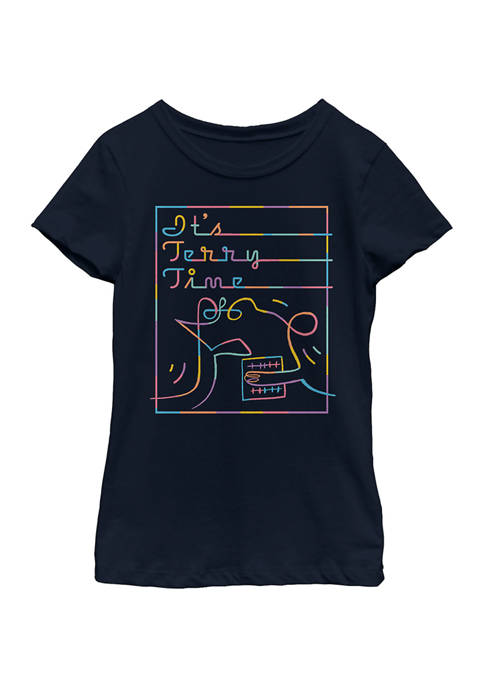 Soul Girls 4-6x Terry Time Graphic Top