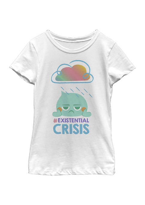 Girls 4-6x Existential Crisis Graphic Top