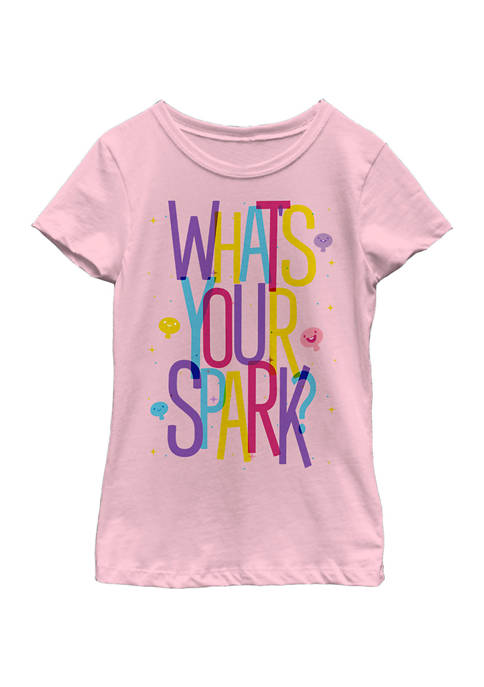 Girls 4-6x Colorful Spark Graphic Top