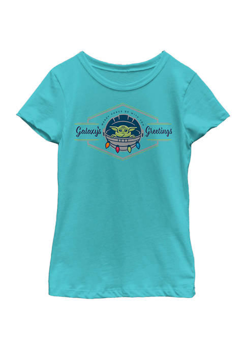 Girls 4-6x Merry Force Be With You Top