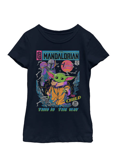 Girls 4-6x Neon Poster Graphic Top