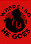Girls 4-6x Where I Go He Goes  Graphic Top