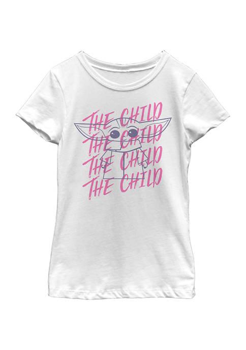 Girls 4-6x Child Overlapping Graphic T-Shirt