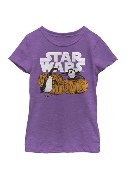 Girls 4-6x Pumpkin Patch Porg T-Shirt