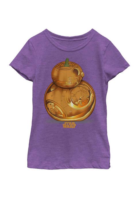 Girls 4-6x BB Pumpkin Logo T-Shirt