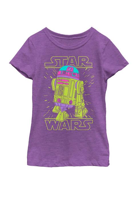 Girls 7-16 Neon R2-D2 Short Sleeve Graphic T-Shirt