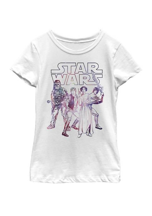 Girls 7-16 Rebel Heroes Battle Galaxy Logo Short Sleeve Graphic T-Shirt