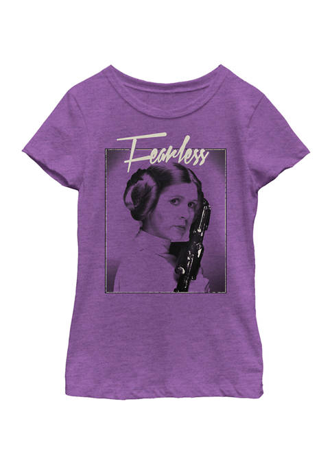 Girls 7-16 Princess Leia Fearless Profile Poster Short Sleeve Graphic T-Shirt