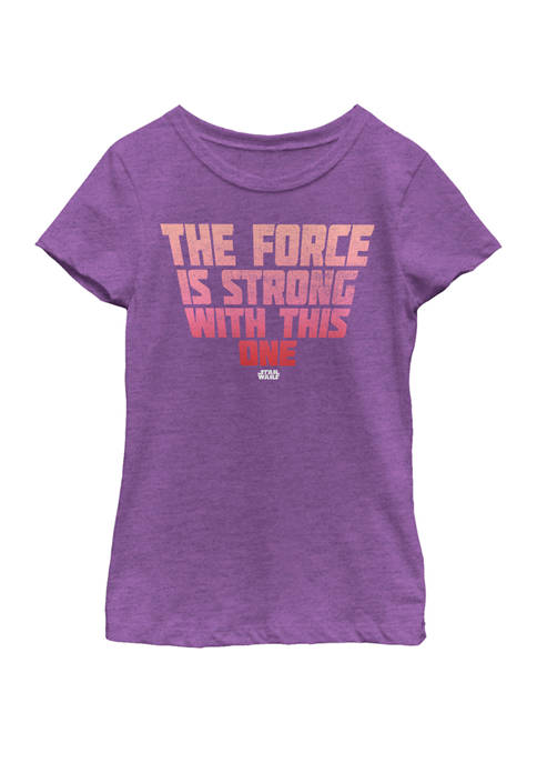 Star Wars® Girls 7-16 The Force Stacked Quote