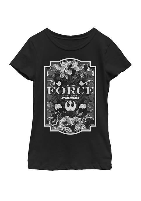 Star Wars® Girls 7-16 Floral Force Poster Short