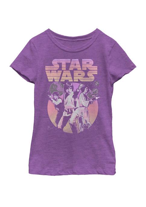 Star Wars® Girls 7-16 Retro Gradient Group Poster