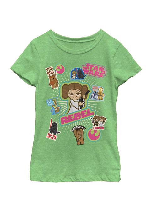 Star Wars® Girls 7-16 Princess Leia Stickers Short