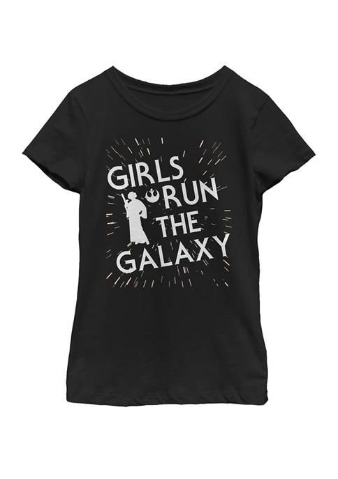 Girls 7-16 Girls Run The Galaxy Short Sleeve Graphic T-Shirt