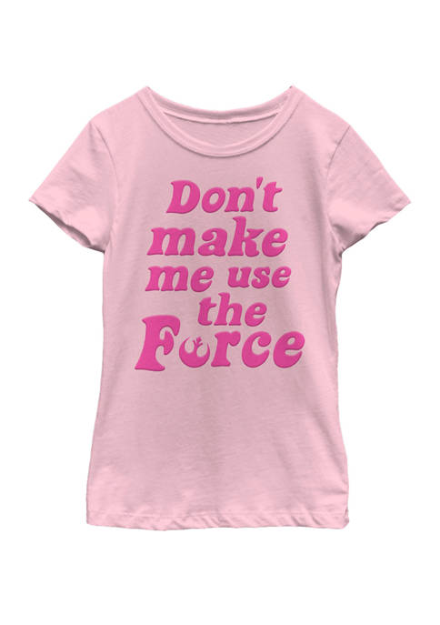 Star Wars® Girls 7-16 Retro Force Quote Short