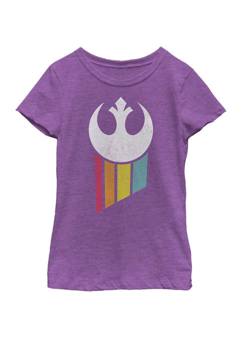 Star Wars® Girls 7-16 Rebel Rainbow Logo Short