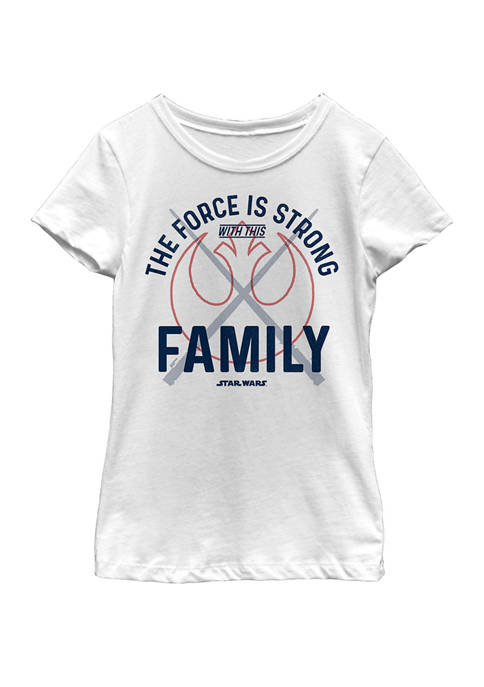 Girls 7-16 Force Is Strong Rebel Family Short Sleeve T-Shirt