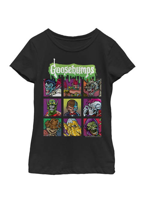 Goosebumps Girls 7-16 Monster Portraits Yearbook Style Short