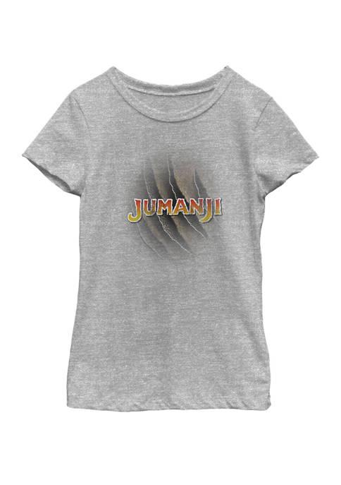 Jumanji Girls 7-16 Claw Marks Logo Short Sleeve