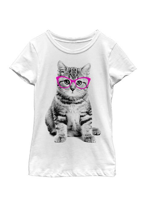 Girls 4-6x Glasses Cat T-Shirt