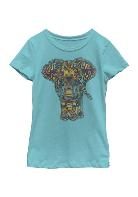 Girls 4-6x Love Elephant T-Shirt