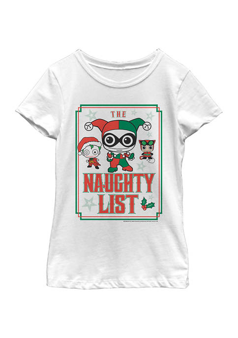 Batman™ Girls 4-6x Naughty List T-Shirt