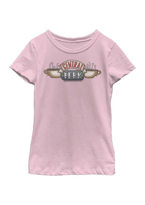 Friends Girls 4-6x Central Perk Logo Graphic T-Shirt