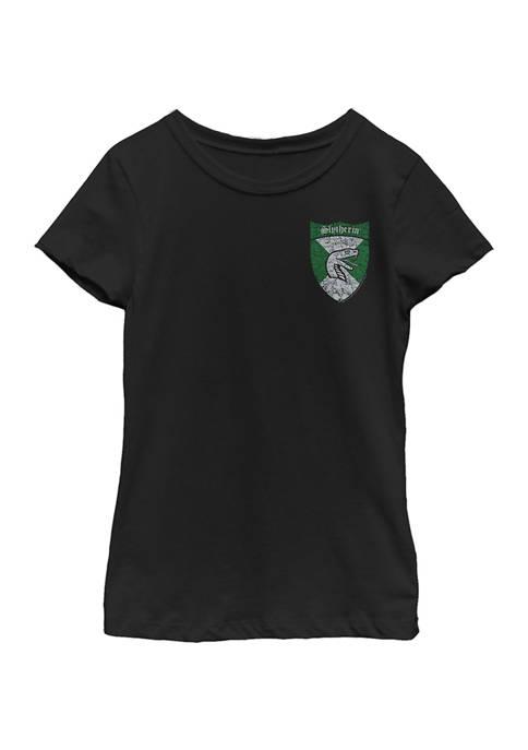 Harry Potter™ Girls 4-6x Slytherin Shield Pocket Graphic