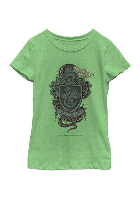 Harry Potter™ Girls 4-6x Slytherin House Crest Graphic