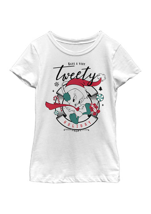Looney Tunes™ Girls 4-6x Twetty Holiday Top