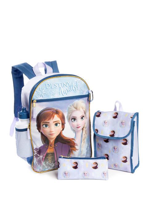 Disney® Frozen 2 Girls Frozen 5 Piece Backpack