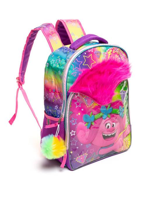 DreamWorks Trolls™ Girls Large Backpack with Pom Pom