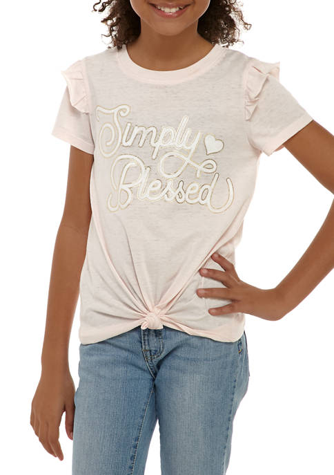 Kandy Kiss Girls 7-16 Short Sleeve Simply Blessed