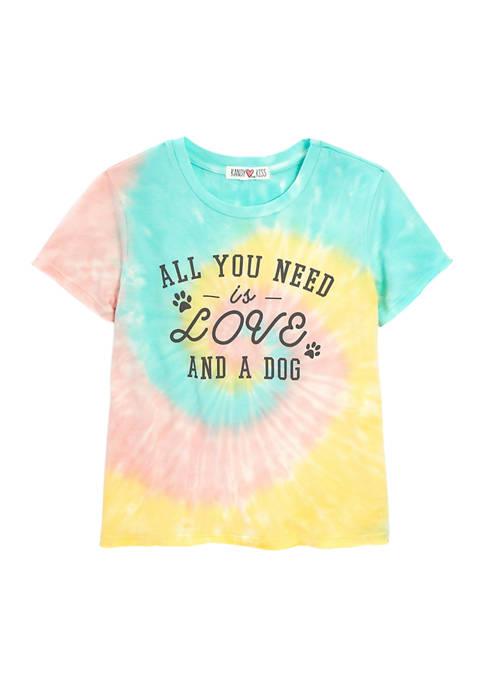 Kandy Kiss Girls 7-16 Short Sleeve Tie Dye