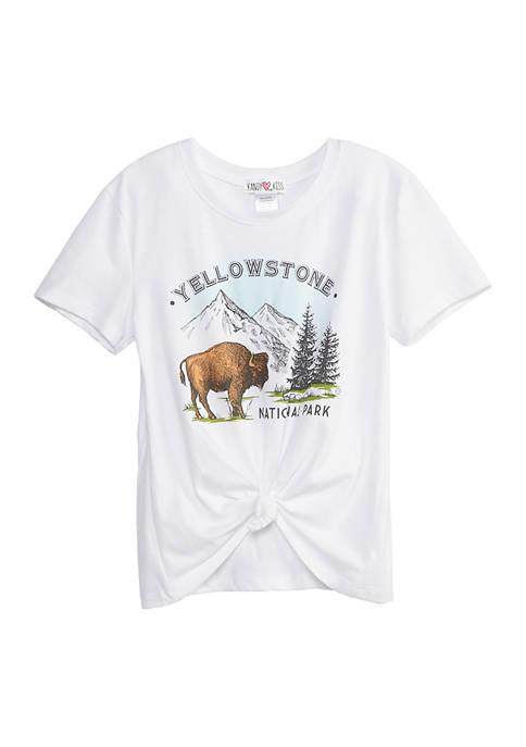 Kandy Kiss Girls 7-16 Short Sleeve Yellowstone Tie